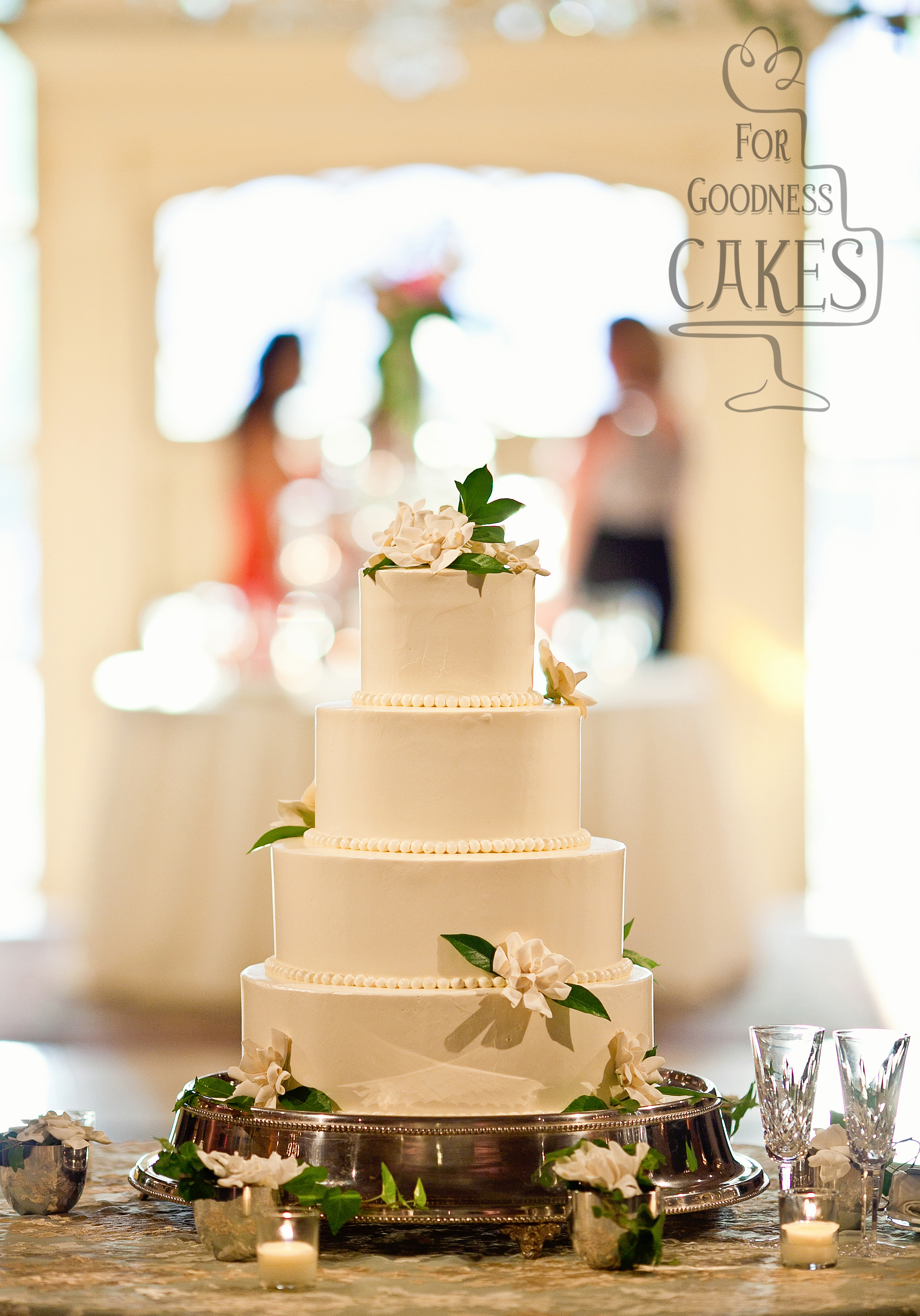CUNNINGHAM PHOTOARTISTS gardenia wedding cake – For Goodness Cakes ...