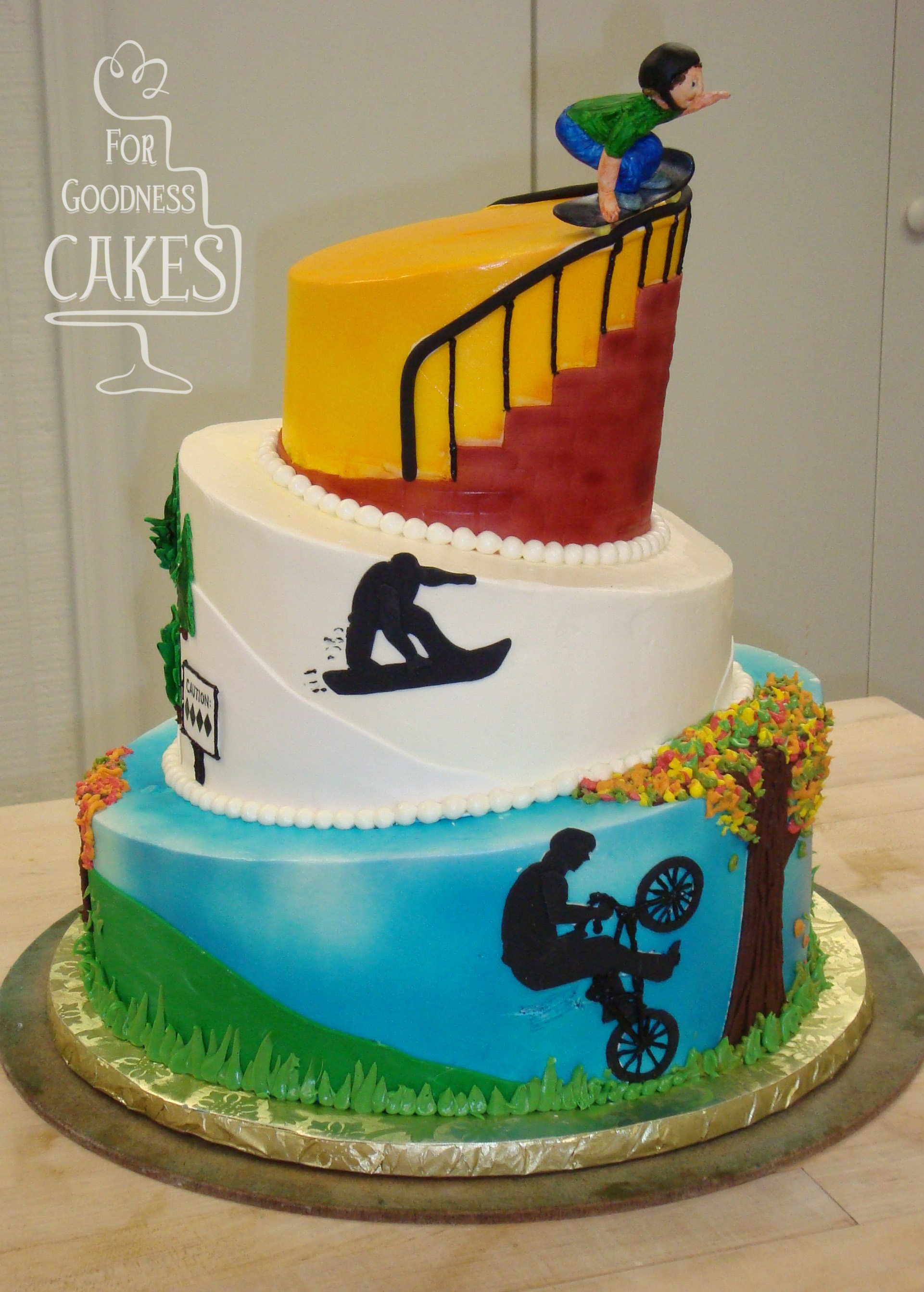 Extreme Sports Cake copy For Goodness Cakes of Charlotte