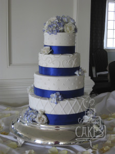 Royal Blue Ribbon Wedding Copy For Goodness Cakes Of Charlotte