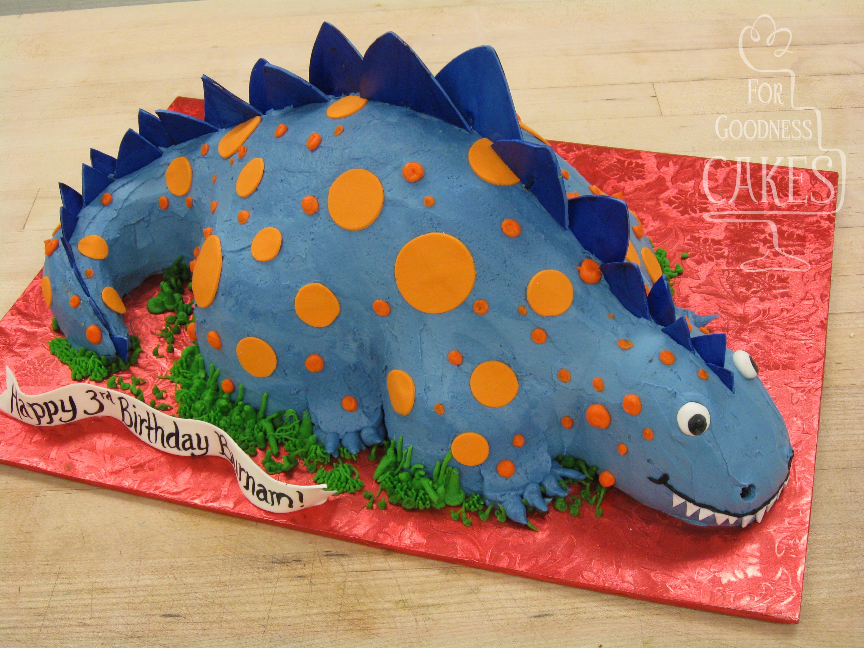 Blue Dinosaur Cake For Goodness Cakes Of Charlotte