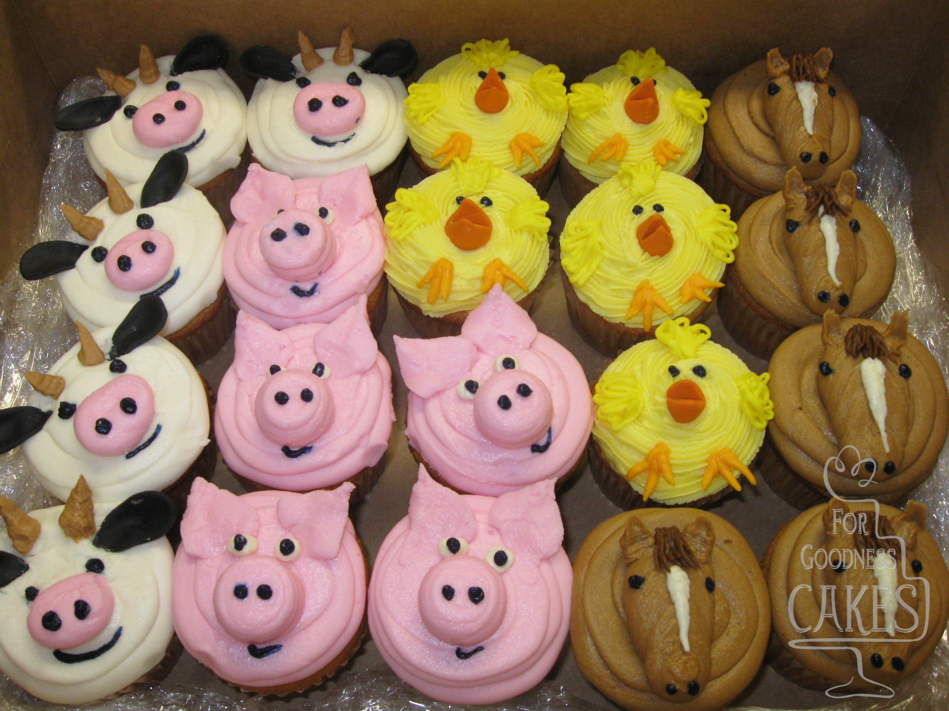 Farm Animal Cupcakes Copy For Goodness Cakes Of Charlotte